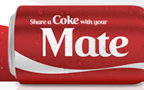 Coke's personalized cans big hit in Australia