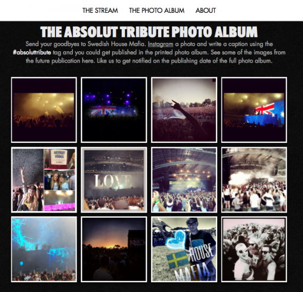 Absolut Tribute Photo Album