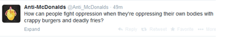 Anti McDonalds tweet