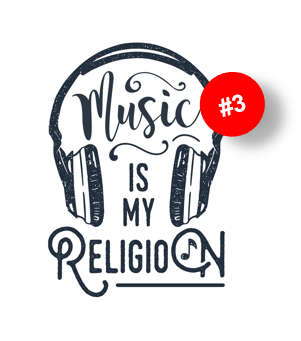 What is your (brand) religion? Music is my religion [3/3]